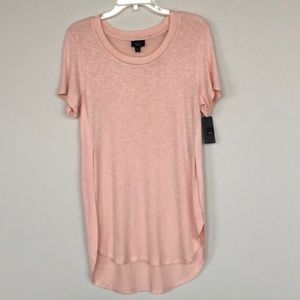 NWT Mossimo peachy-pink short-sleeved tunic M